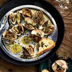 Food & Wine: Littleneck Clams In the Style of Escargot