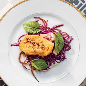 Food & Wine: Red Cabbage, Apple, and Fromage Blanc Salad