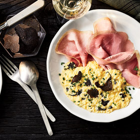 Food & Wine: Soft Scrambled Eggs with Ham and Truffles