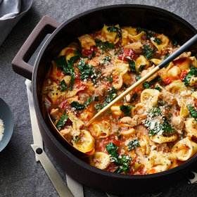 Food & Wine: Chicken Tortellini Soup with Kale