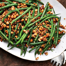 Food & Wine: Garlicky Haricots Verts with Hazelnuts