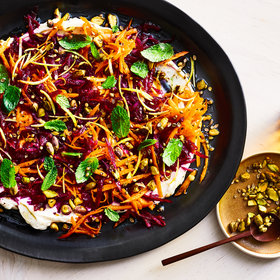 Food & Wine: Beet-Carrot Slaw with Garlicky Labneh