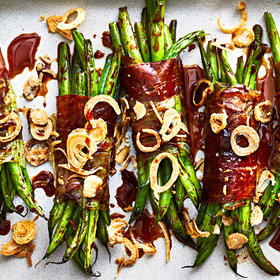 Food & Wine: Speck-Wrapped Haricots Verts with Date Molasses