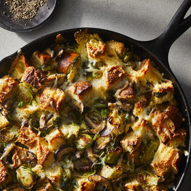Food & Wine: Cheesy Brussels Sprouts Bread Pudding