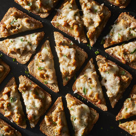 Food & Wine: Cheesy Sausage Cocktail Toasts
