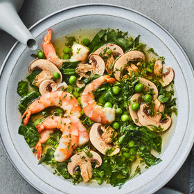 Food & Wine: Herbed Lemongrass Broth with Shrimp