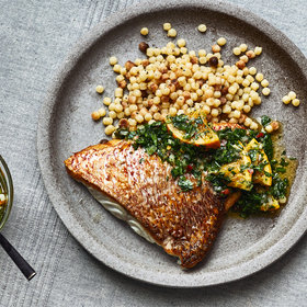 Food & Wine: Snapper with Preserved Citrus Gremolata and Fregola
