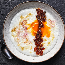 Food & Wine: Spicy Sesame, Bacon, and Egg Congee