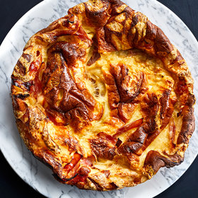 Food & Wine: Weekend Goals: Make This Giant Ham-and-Cheese Dutch Baby