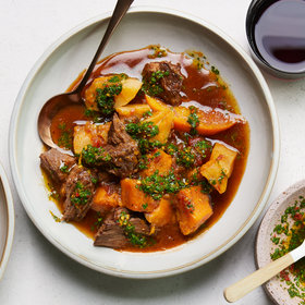 Food & Wine: Spicy Pot Roast with Oranges, Sweet Potatoes, and Calabrian Chile Gremolata