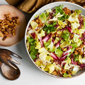 Food & Wine: Vegan Caesar Salad with Chicories and Walnuts