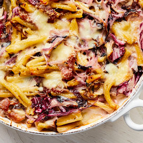 Food & Wine: Cheesy Baked Pasta with Radicchio