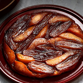 Food & Wine: Pear and Shallot Tarte Tatin with Whipped Goat Cheese
