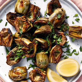 Food & Wine: Roasted Baby Artichokes with Parsley and Mint