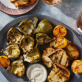 Food & Wine: Grilled Artichokes with Herby Lemon Aioli