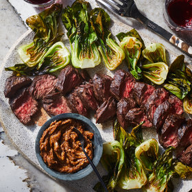 Food & Wine: Sheet Pan Hanger Steak and Bok Choy with Lemon-Miso Butter