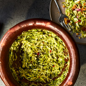 Food & Wine: Bruised Cabbage-and-Herb Salad with Spicy Fish Sauce Dressing