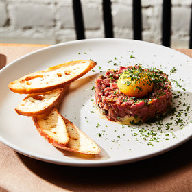Food & Wine: Beef Tenderloin Tartare with Anchovy-Cornichon Vinaigrette