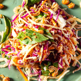 Food & Wine: Crunchy Cabbage Salad with Peanuts and Fish Sauce
