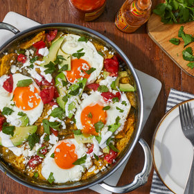 Food & Wine: Chilaquiles with Tomatillo Salsa and Fried Eggs