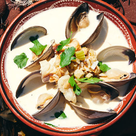 Food & Wine: PEI-Style Smoky Clam Chowder