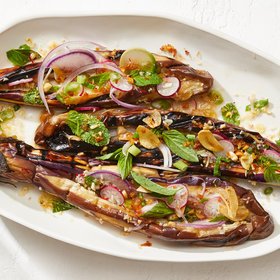 Food & Wine: Fairy Tale Eggplant with Crispy Shallots and Thai Dressing