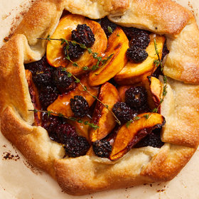 Food & Wine: Summer Peach and Blackberry Galette