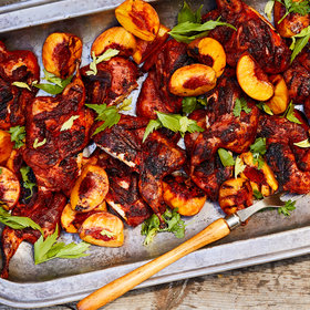 Food & Wine: Achiote-Marinated Quail with Grilled Peaches