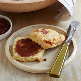 Food & Wine: Bacon Biscuits with Roasted Apple Butter