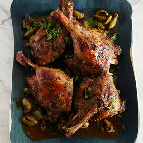 mkgalleryamp; Wine: Slow-Cooked Duck with Green Olives and Herbes de Provence