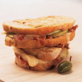 Food & Wine: Prosciutto, Brie and Apple Panini with Scallion Butter