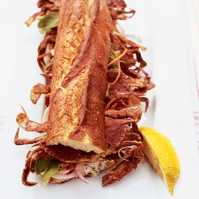 mkgalleryamp; Wine: Soft-Shell Crab and Bacon Sandwiches