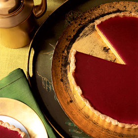 Food & Wine: Pumpkin Cheesecake Tart with Cranberry Gelée