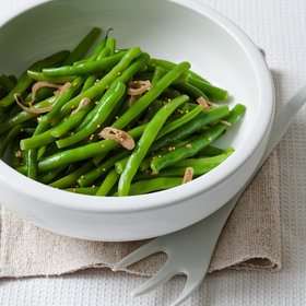 Food & Wine: Green Beans with Mustard-Seed Butter