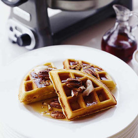 mkgalleryamp; Wine: Banana Waffles with Pecans