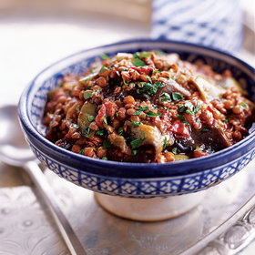 Food & Wine: Eggplant and Lentil Stew with Pomegranate Molasses