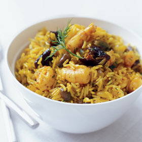 Food & Wine: Shrimp and Rice Pilaf, Indian-Style