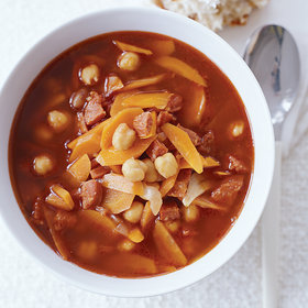 mkgalleryamp; Wine: Garbanzo Soup with Chorizo and Smoked Paprika