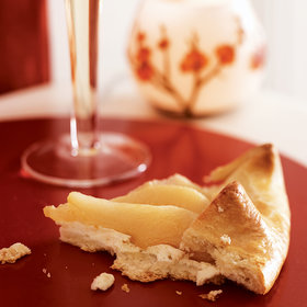 Food & Wine: Ricotta and Prosecco Poached Pear Crostatas