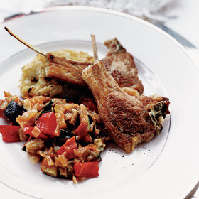 Food & Wine: Lamb Rib Chops with Vegetable Hash