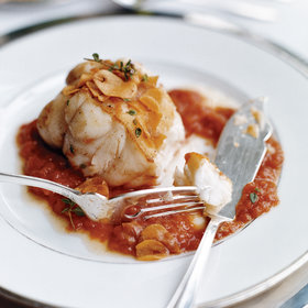 Food & Wine: Monkfish in Tomato-Garlic Sauce