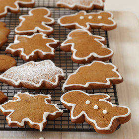 Food & Wine: Gingerbread Cookies with Royal Icing