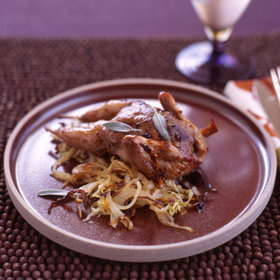 Food & Wine: Roasted Quail with Cabbage and Raisins