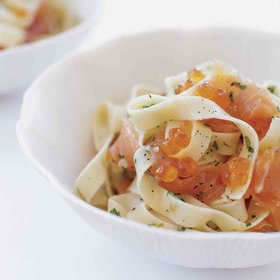 Food & Wine: Pasta with Salmon Caviar