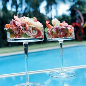 Food & Wine: Shrimp and Squid Cocktails with Avocado and Tomato
