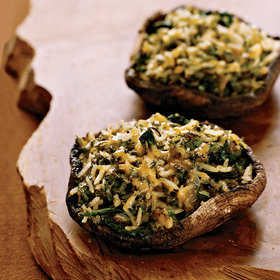 Food & Wine: Poblano-and-Cheddar-Stuffed Portobello Mushrooms