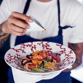 Food & Wine: Lobster with Udon Noodles, Bok Choy and Citrus