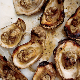 Food & Wine: Grilled Oysters with Spicy Tarragon Butter