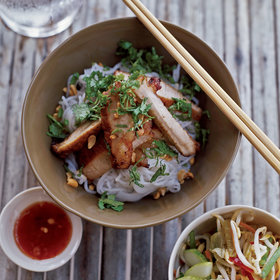 Food & Wine: Lemongrass-Barbecued Pork with Rice-Vermicelli Salad