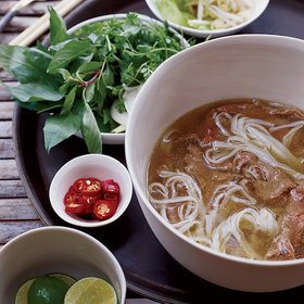 Food & Wine: Spiced Beef Pho with Sesame-Chile Oil